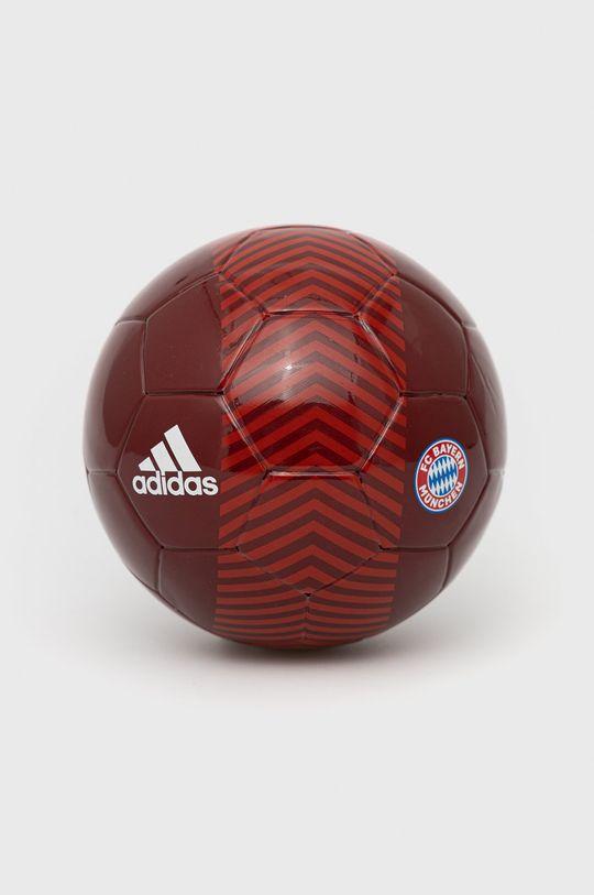 czerwony adidas Performance - Piłka Mini FC Bayern Unisex