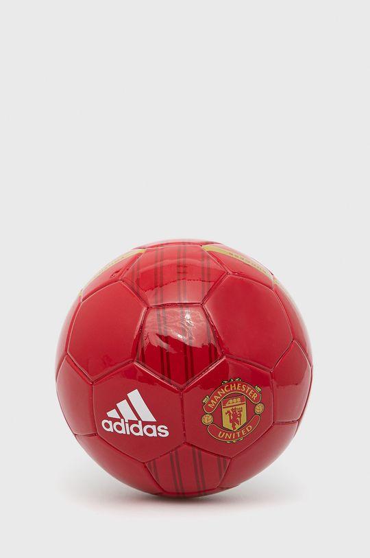 czerwony adidas Performance - Piłka Manchester United Mini Home Unisex