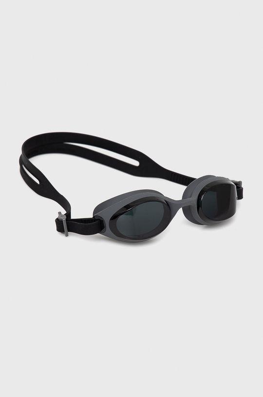 czarny Nike - Okulary pływackie Unisex