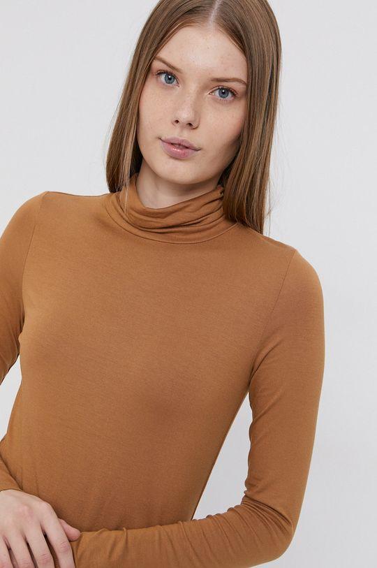 hnedá Tom Tailor - Tričko s dlhým rukávom