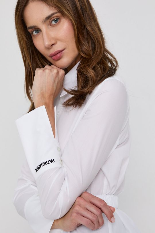 bílá Patrizia Pepe - Bavlněná košile