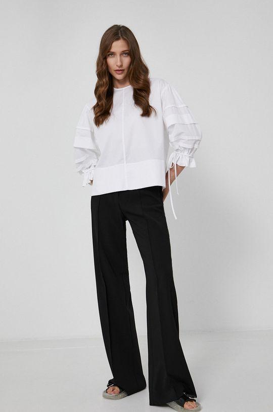 Victoria Victoria Beckham - Bavlněná halenka bílá