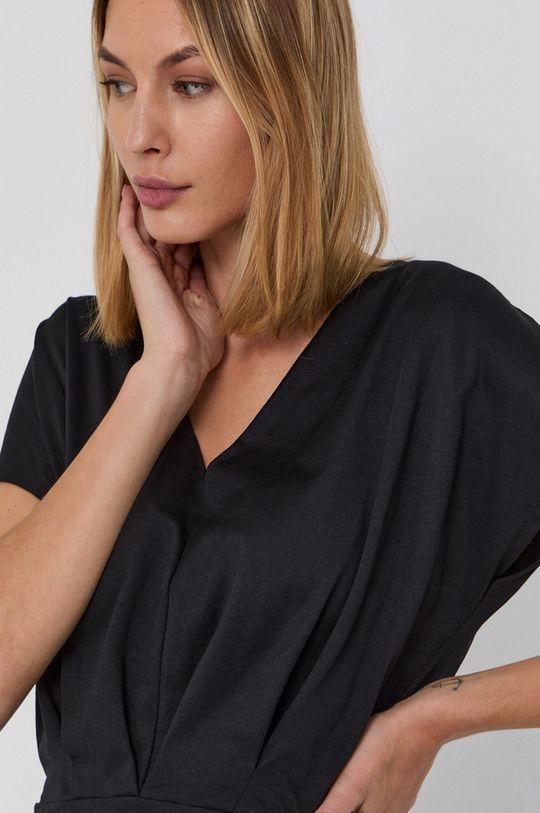 czarny Sisley - Bluzka