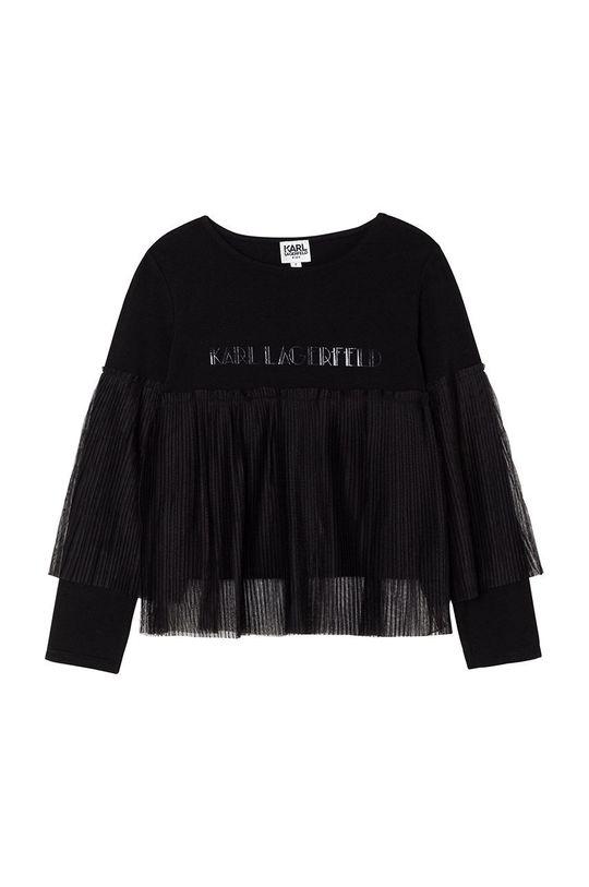 czarny Karl Lagerfeld - Bluzka dziecięca Dziewczęcy