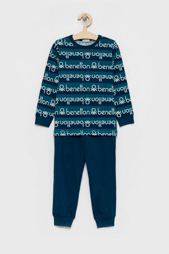 niebieski United Colors of Benetton - Piżama dziecięca Chłopięcy
