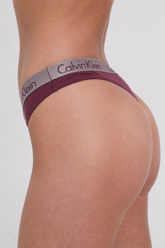 Calvin Klein Underwear - Stringi mahoniowy