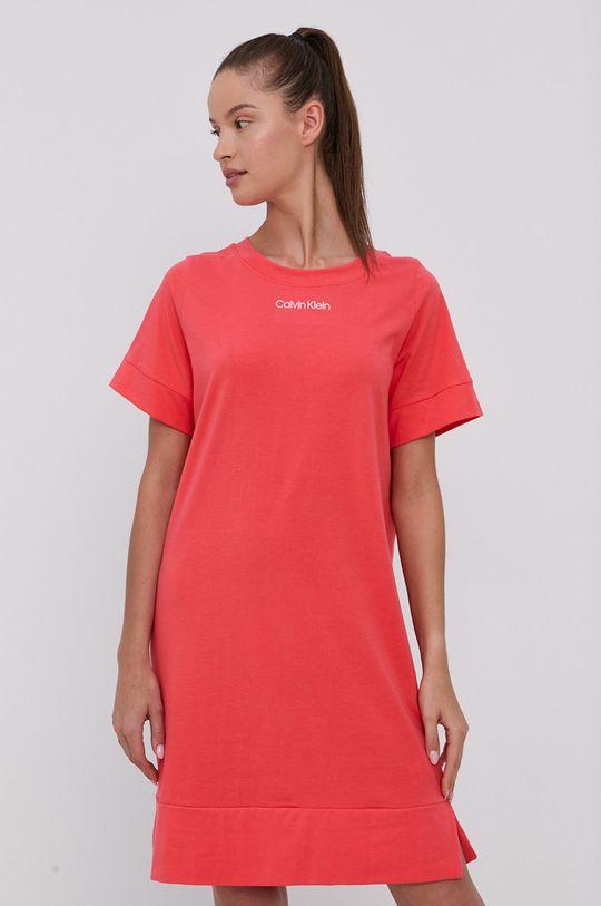 korálová Calvin Klein Underwear - Noční košilka Dámský
