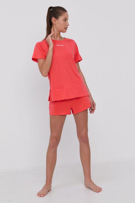 Calvin Klein Underwear - Szorty piżamowe koralowy
