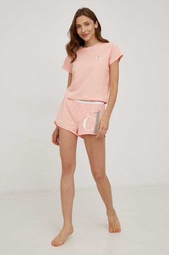 różowy Calvin Klein Underwear - Piżama CK One Damski