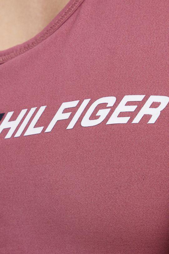 brudny róż Tommy Hilfiger - Biustonosz sportowy