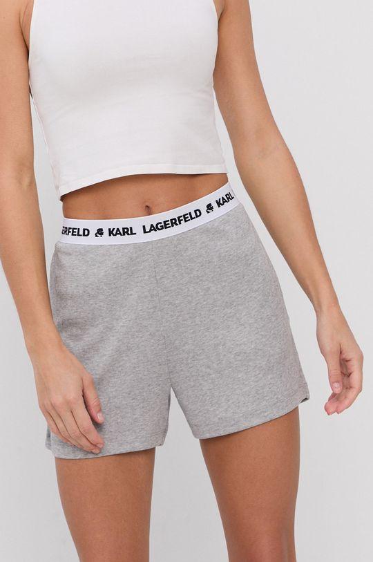 Karl Lagerfeld - Szorty piżamowe jasny szary
