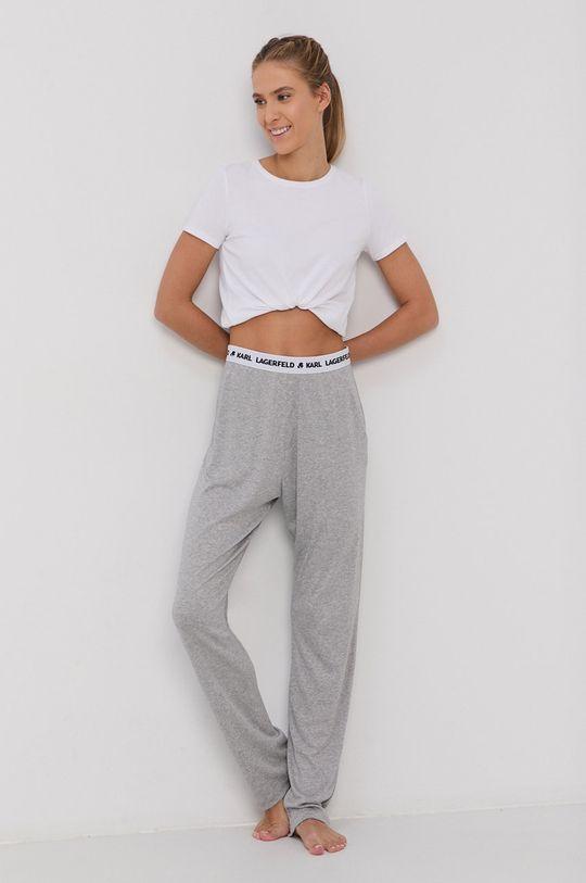 Karl Lagerfeld - Spodnie piżamowe jasny szary