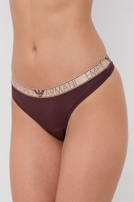 kaštanová Emporio Armani Underwear - Tanga Dámský