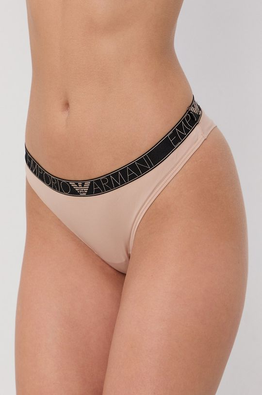 piaskowy Emporio Armani Underwear - Stringi Damski