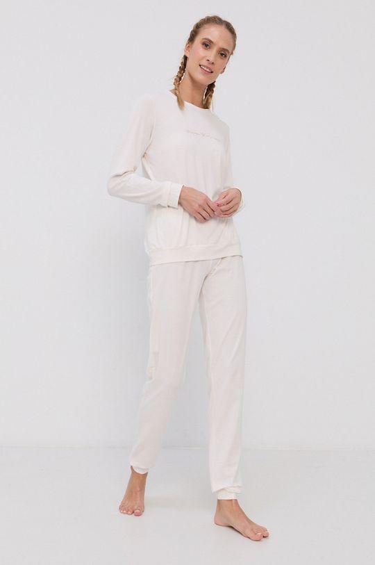 kremowy Emporio Armani Underwear - Komplet piżamowy Damski