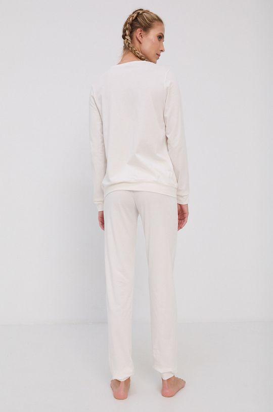 Emporio Armani Underwear - Komplet piżamowy kremowy