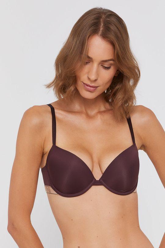 mahoniowy Emporio Armani Underwear - Biustonosz modelujący Damski