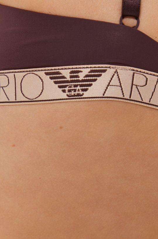 mahoniowy Emporio Armani Underwear - Biustonosz modelujący