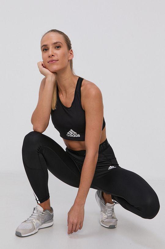 čierna adidas - Športová podprsenka