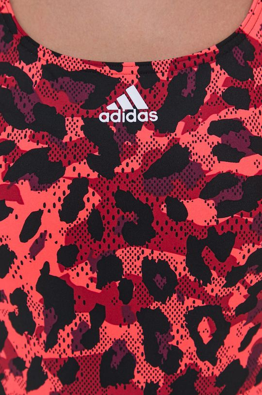 ostry czerwony adidas Performance - Strój kąpielowy