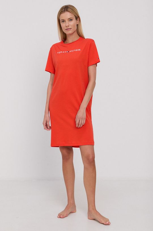 Tommy Hilfiger - Koszula nocna pomarańczowy