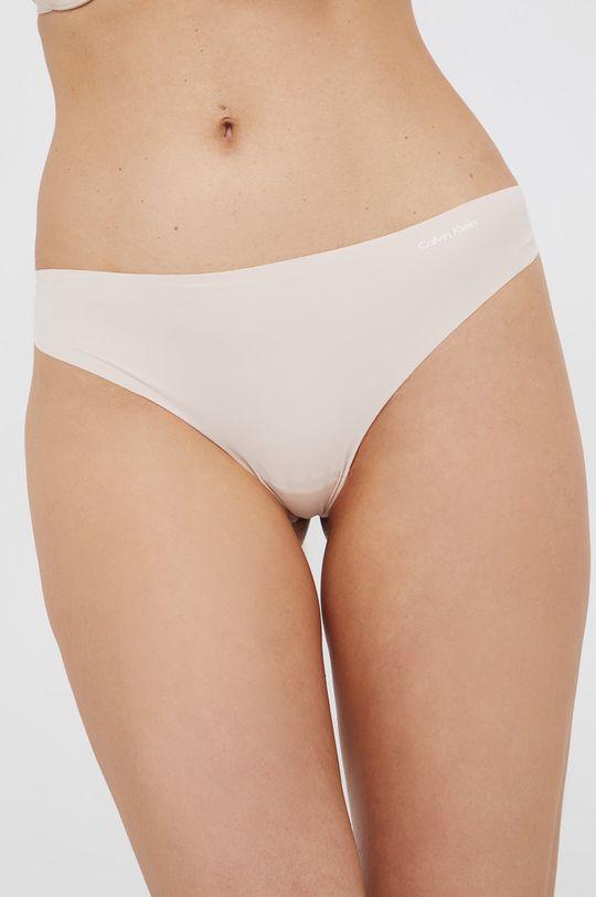 piaskowy Calvin Klein Underwear - Stringi Damski