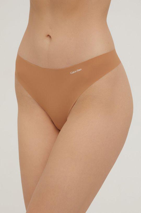 beżowy Calvin Klein Underwear - Stringi Damski