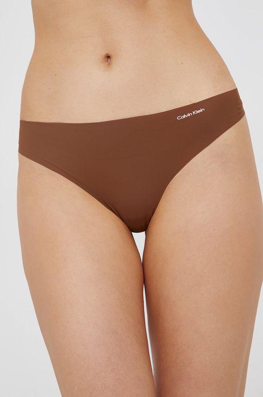brązowy Calvin Klein Underwear - Stringi Damski