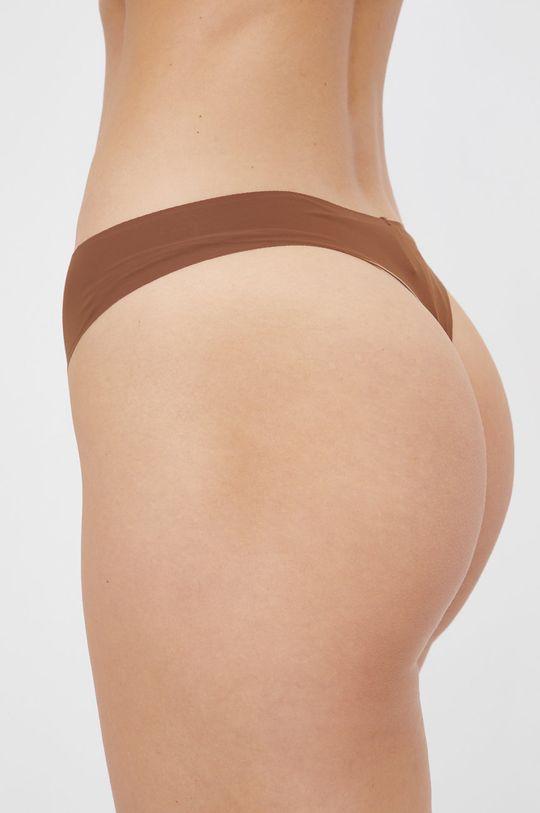 Calvin Klein Underwear - Stringi brązowy
