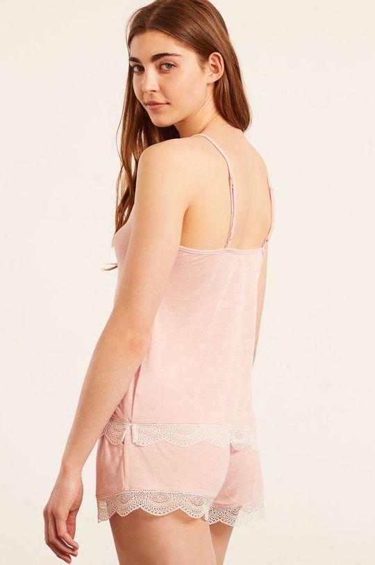 Etam - Pyžamový top WARM DAY pastelová ružová