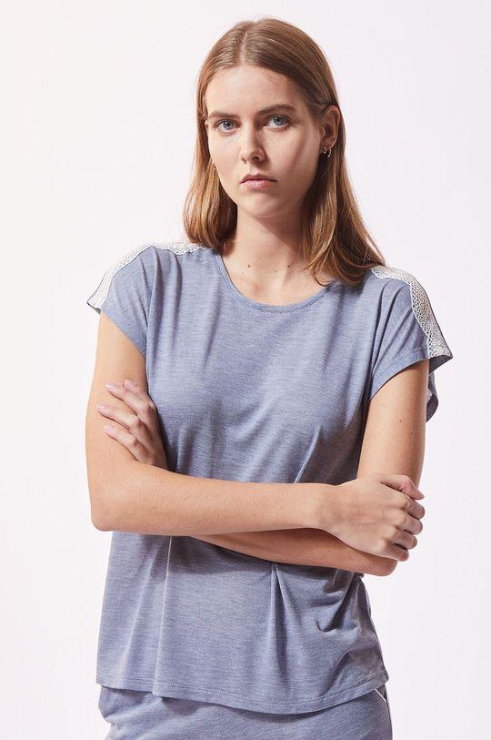 tmavě tyrkysová Etam - Pyžamové tričko Warm Day Dámský