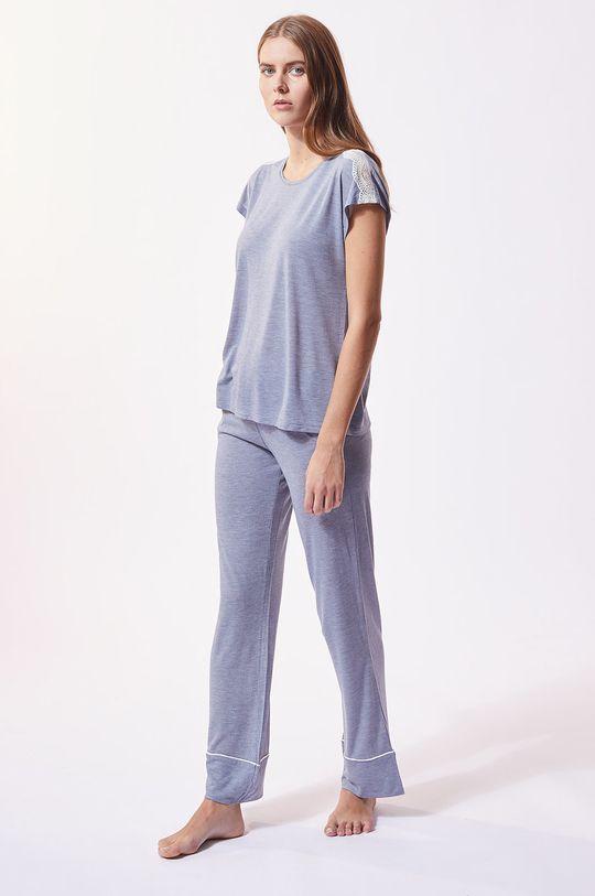 Etam - Pyžamové tričko Warm Day tmavě tyrkysová