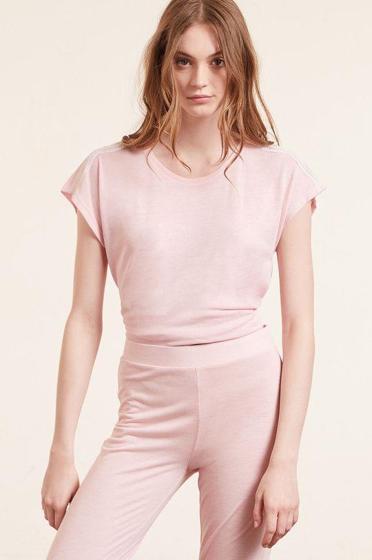 pastelowy różowy Etam - T-shirt piżamowy WARM DAY Damski