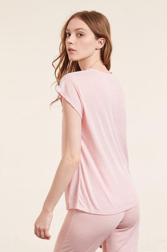 Etam - T-shirt piżamowy WARM DAY Materiał 1: 50 % Poliamid, 50 % Wiskoza, Materiał 2: 12 % Elastan, 88 % Poliamid