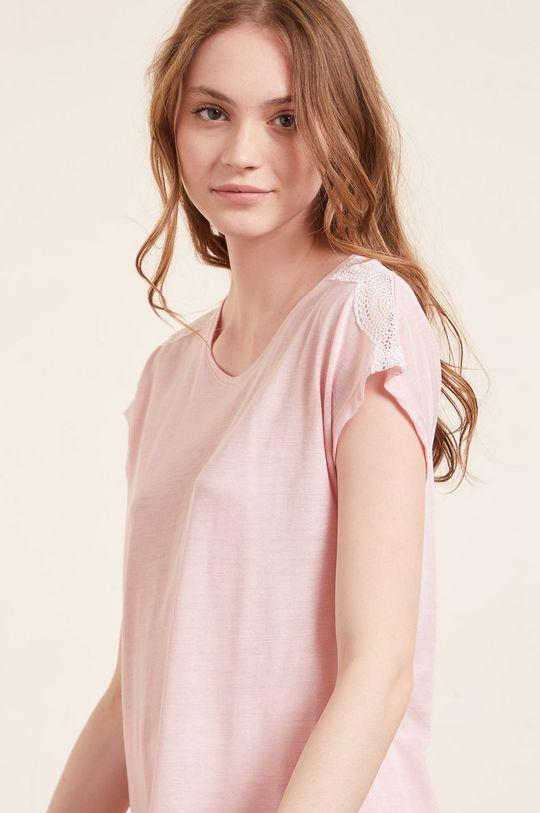 pastelowy różowy Etam - T-shirt piżamowy WARM DAY
