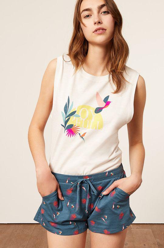 kremowy Etam - Top piżamowy BEACH Damski