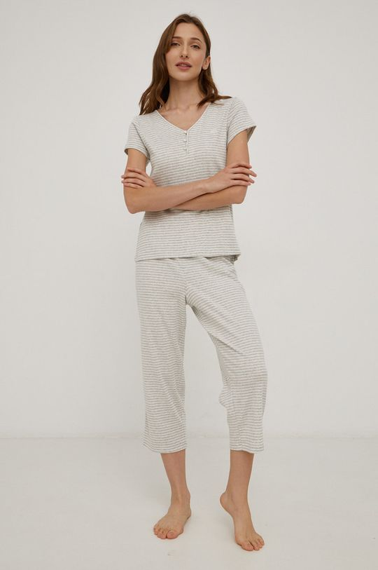 szary Lauren Ralph Lauren - Piżama bawełniana Damski
