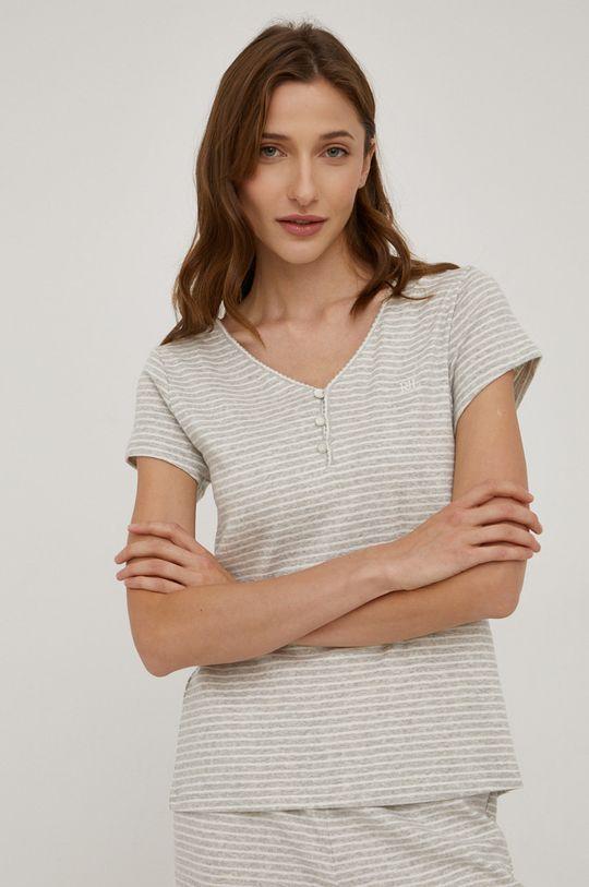 Lauren Ralph Lauren - Piżama bawełniana szary