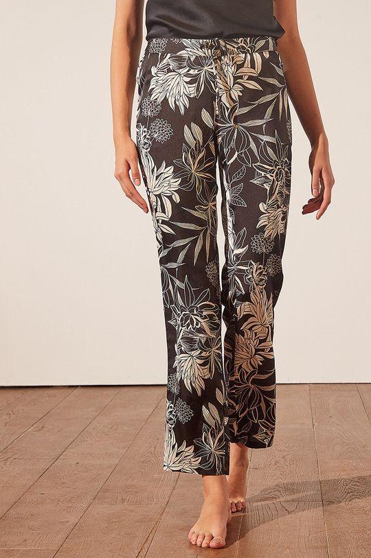 czarny Etam - Spodnie piżamowe New Sali Damski