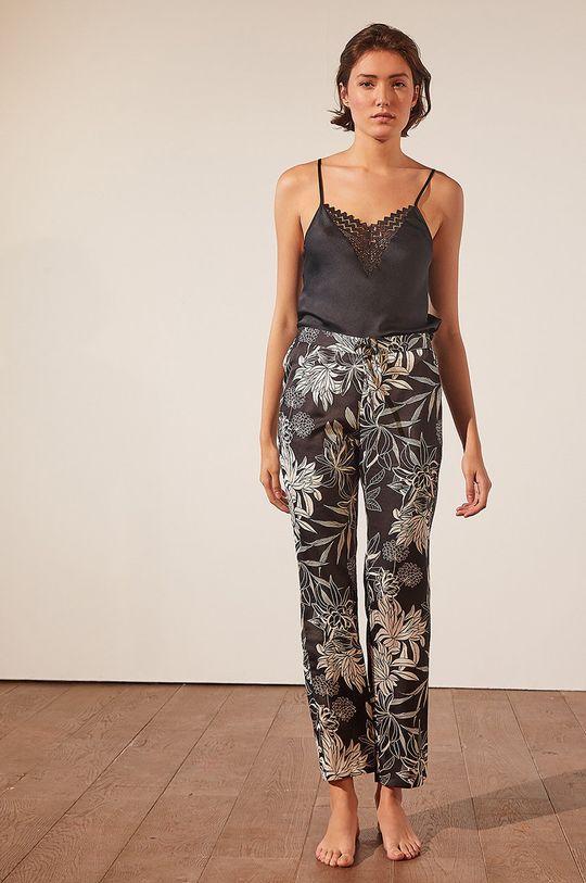 czarny Etam - Spodnie piżamowe New Sali