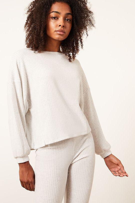 béžová Etam - Pyžamové tričko s dlouhým rukávem Cael