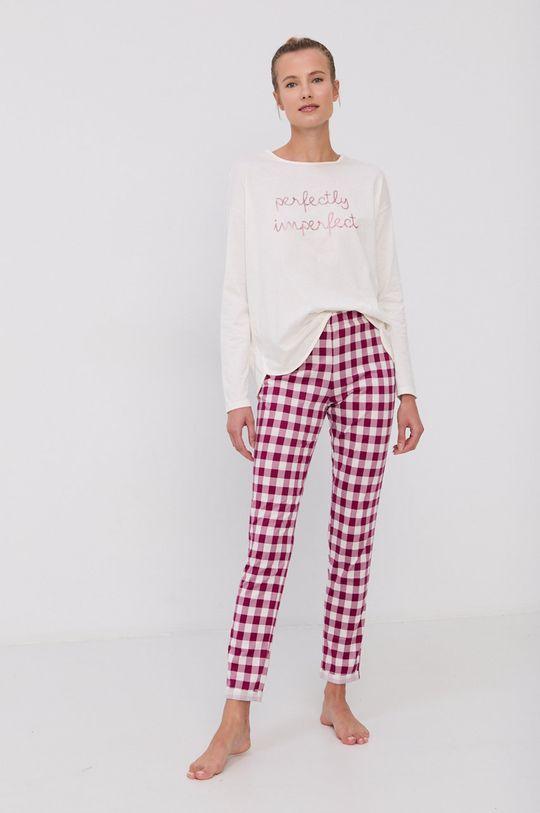 kremowy United Colors of Benetton - Longsleeve piżamowy Damski