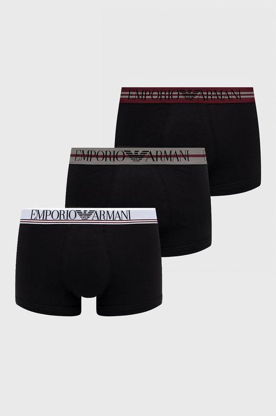 czarny Emporio Armani Underwear - Bokserki (3-pack) Męski