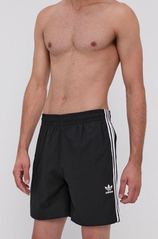černá adidas Originals - Plavkové šortky Pánský