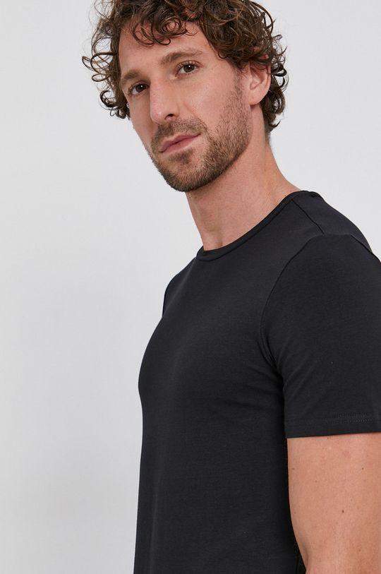 czarny Drykorn - T-shirt (2-pack) Męski