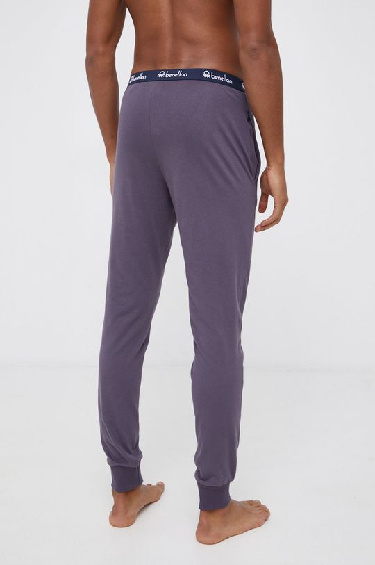 United Colors of Benetton - Spodnie piżamowe grafitowy