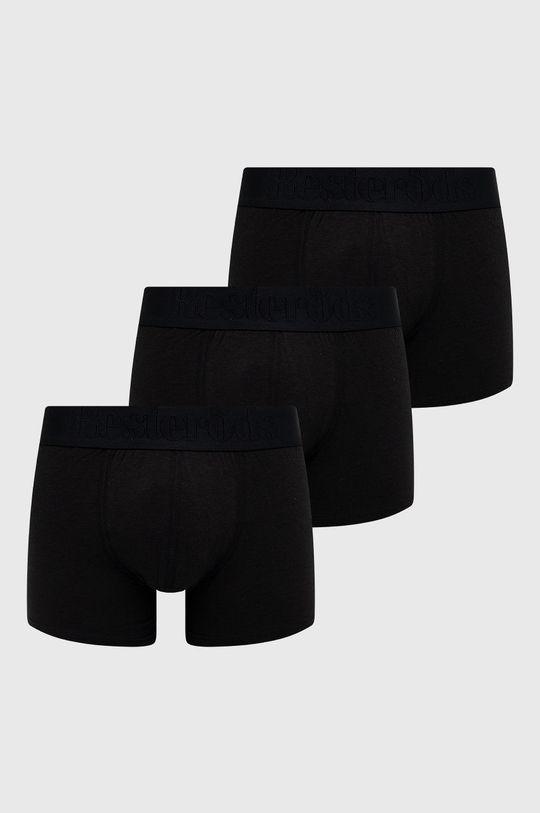 czarny Resteröds - Bokserki Bamboo Viscose (3-pack) Męski