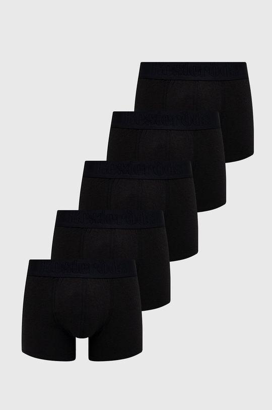 czarny Resteröds - Bokserki Bamboo Viscose (5-pack) Męski