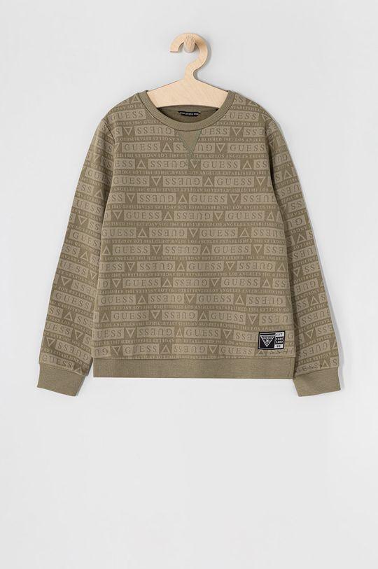 militarny Guess - Bluza bawełniana dziecięca 116-176 cm Chłopięcy