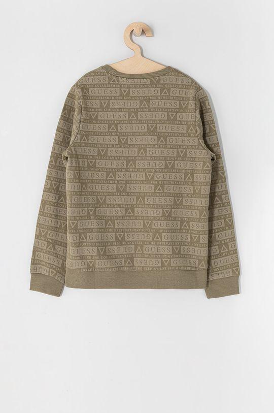 Guess - Bluza bawełniana dziecięca 116-176 cm militarny
